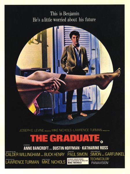 THE GRADUATE... directed by MIKE NICHOLS with DUSTIN HOFFMAN, ANNE BANCROFT